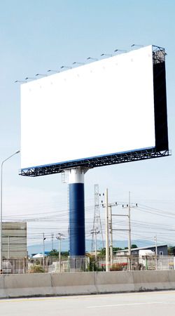 free space: Billboard free space very big and Traffic Barrier on the road