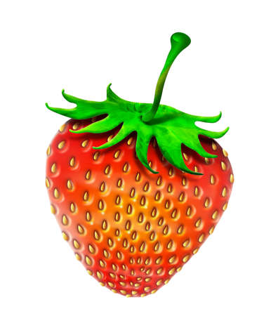 applied: Red Strawberry applied art computer graphic isolate on white background no have picture example, Its all my imagination design only