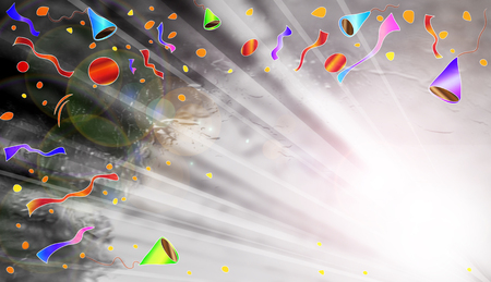 glisten: Party and Celebrations Beam Background. Stock Photo