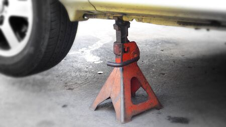 the stands: Jack stands tools for car,In shop service will change tire or max.