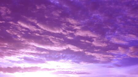 Silhouette sunrise sky pink with magenta and cloud, Photography has reflex radius made to presentation background. Stock Photo