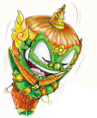 You welcome Thai Giant Cartoon acting, Character design and freehand pencil sketch.