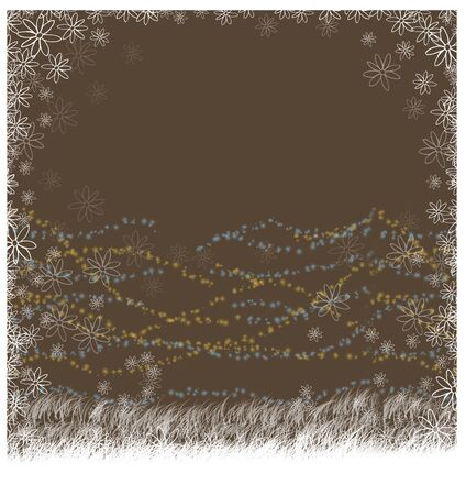 Background nature brown color computer graphic of brush design.