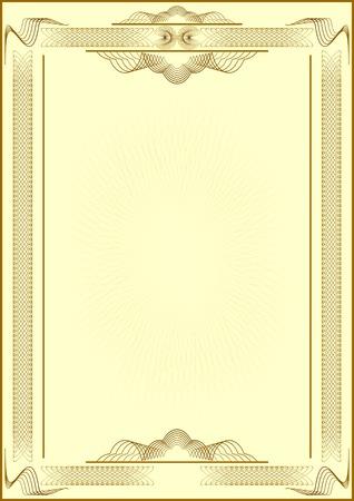 diploma: Patr�n forma de ilustraci�n de background.Vectorial amarillo de certificate.Light.