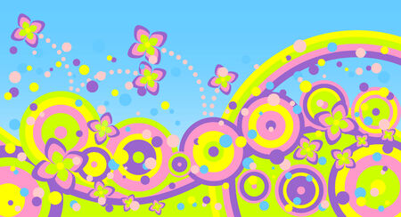 Abstract summer background.Rich and different colours. illustration. Ilustração