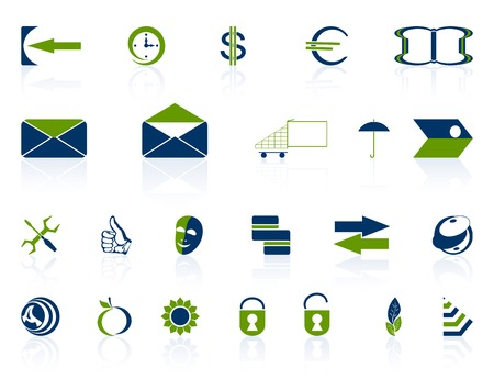 Complete set of different icons on a white background.Vectorial illustration.