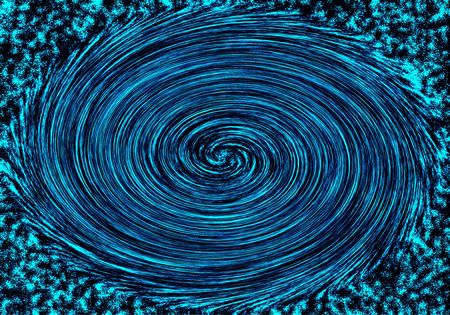 turbulence: Space turbulence is in black and dark blue tones.Raster illustration.