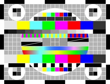 Test of color for televisional receivers.There are various colors in an image. Stock Vector - 6596934