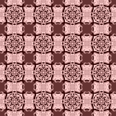 frizz: Decorative pattern of cream color.All of elements are located symmetric. Illustration