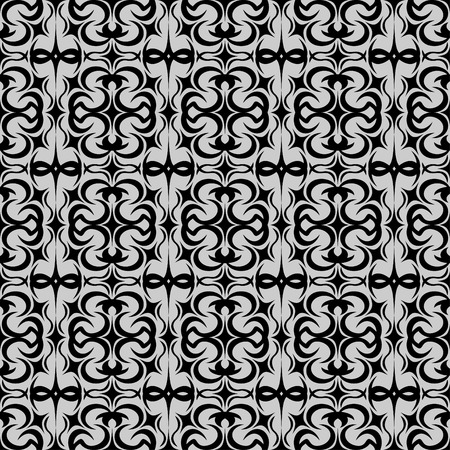 reiteration: Dark patterned background.Present two colors.Black and grey.