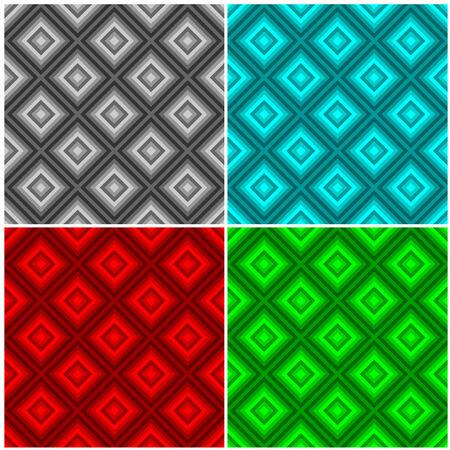 varicoloured: Completo conjunto de colores de bocetado backgrounds.Blue geom�tricos, gris, rojo y verde.