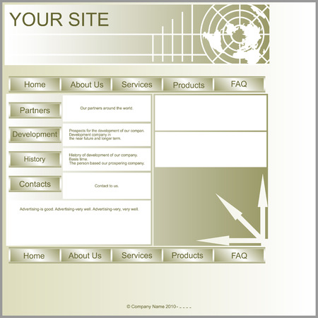 ease: Site Layout marsh color.Layout is square in shape and ease of processing. Illustration