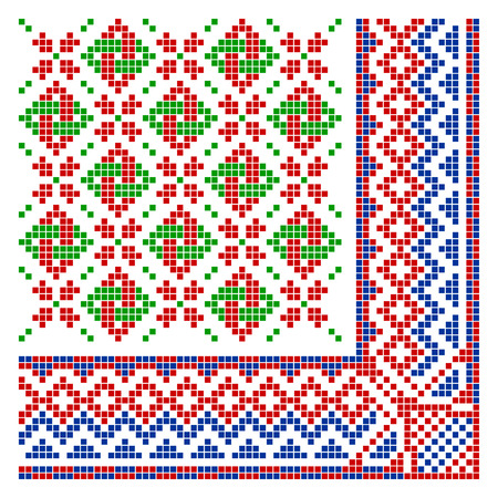 schemes: The complete set of patterns similar to an ancient russian ornament.
