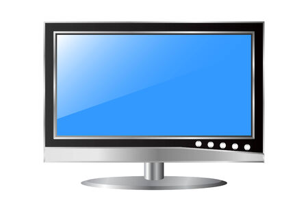 LCD TV on a white background.