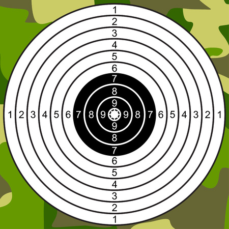 Target for shooting on a camouflage background. Stock Vector - 8458157
