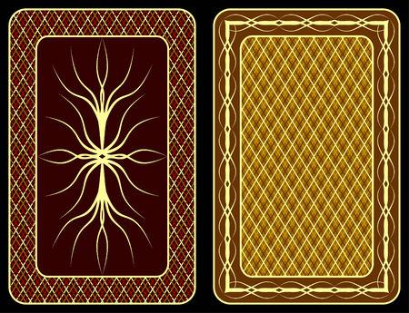 Pattern on an underside of playing cards. Ilustração