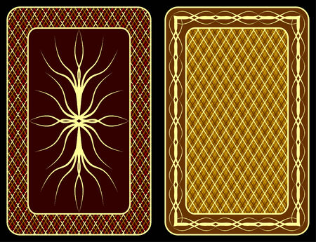 Pattern on an underside of playing cards. Illustration