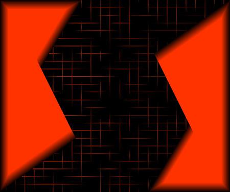 figuras abstractas: Figuras abstractas rojas sobre un fondo negro. Vectores
