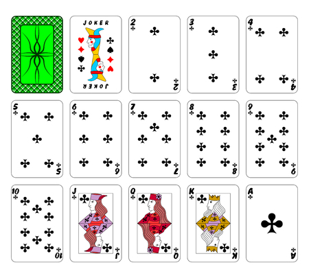 playing card set symbols: Part of the complete set of playing cards. Illustration