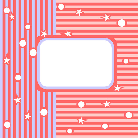 strip structure: Light background. Pink both blue strips and a place for the text.