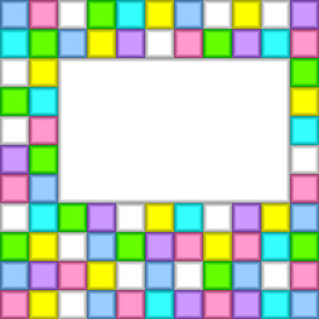 Abstract background with a place for the text. Consists of color squares. Stock Vector - 9702980