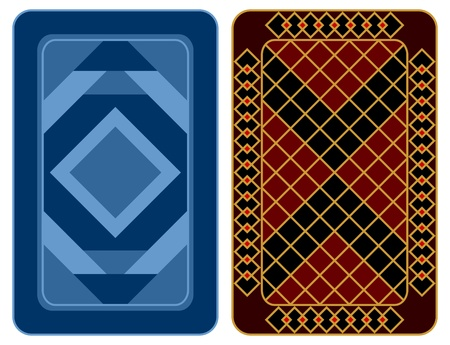 Design of two playing cards on a white background. Vector