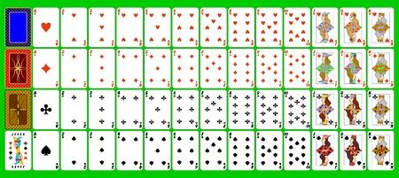 cartas de poker: Conjunto completo de naipes.