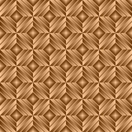 rhombus: Gold seamless background. The background consists of gold plates symmetrically located on a surface. Illustration