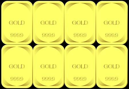 lingot or: Fond d'or. Le fond est constitu� de lingots d'or.