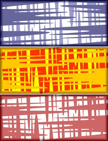complete crossing: Abstract color background in three variants. Illustration