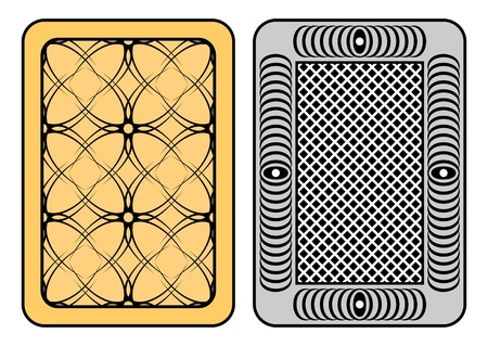 Design of playing cards. Two playing cards on a white background. Vector
