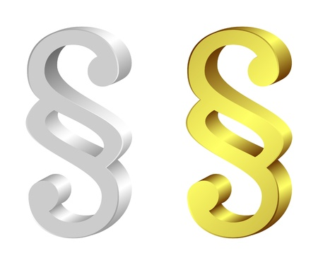 Set from silvery and gold paragraphs on a white background.