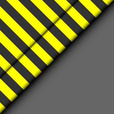 俵: 縞模様の背景を抽象化します。黒地に黄色と黒のストリップ。