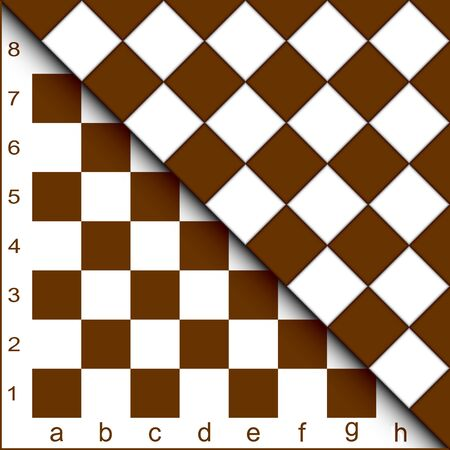 white matter: The chessboard forms an abstract background.