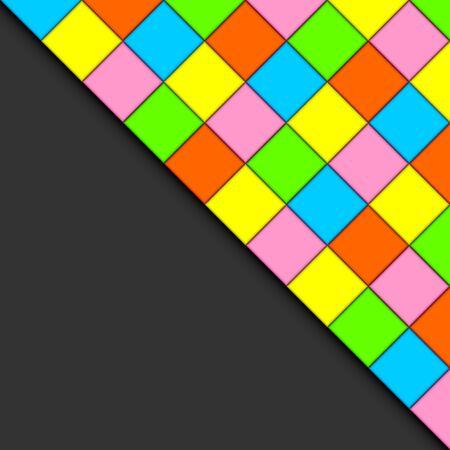 俵: 色とりどりのタイルは、抽象的な背景を形成します。  イラスト・ベクター素材