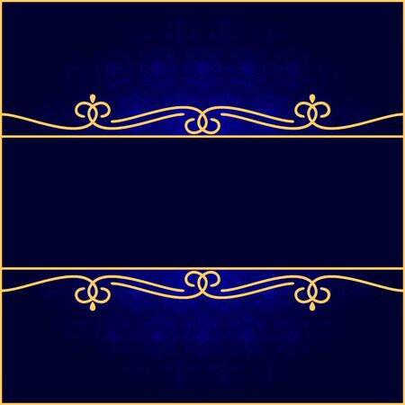 darkly: Dark vintage background. Background of darkly dark blue color. EPS-8. Illustration