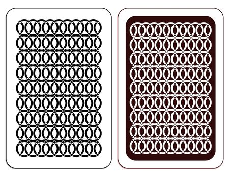 underside: Design of a playing card in two versions.