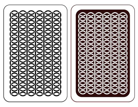 Design of a playing card. Two versions. Vector