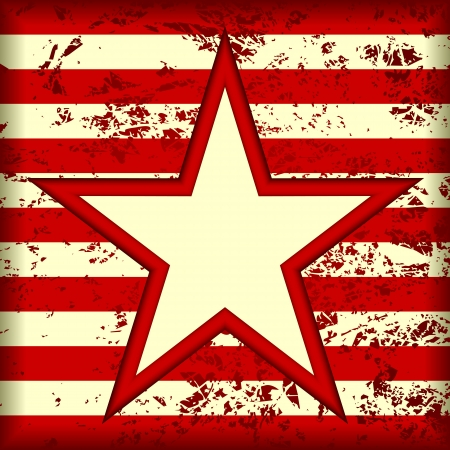 strip structure: Grunge striped background. In the center background is a star. Illustration