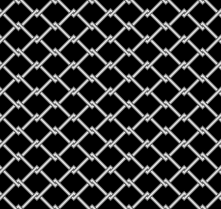 netty: Seamless abstract background. Steel grid on a black background.