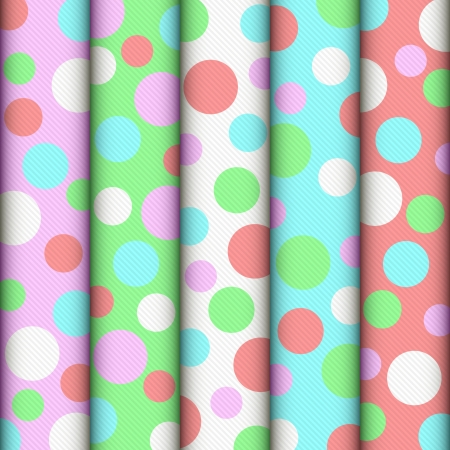 often: Light background. Rolls of color fabric are rowed. EPS-8. Illustration