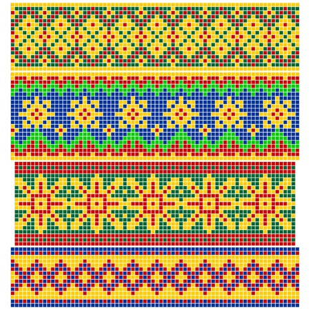 Set of Old Russian patterns Illustration
