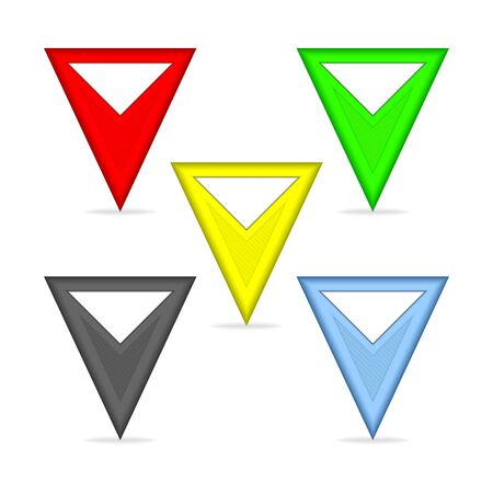 triangle button: Set of triangular pointers for the map  Pointers in different colors
