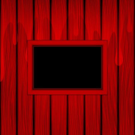 flowed: Red frame on a red background  Begin to flow paints, or blood on panels  Illustration