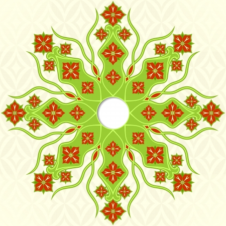 Flower ornament on a light background