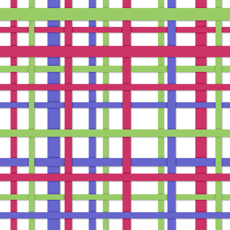 longitudinal: Longitudinal and cross strips of different color  Seamless abstract background