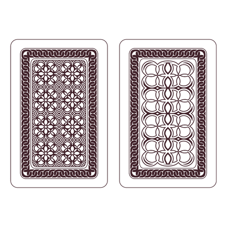 underside: Design of playing cards  Two variants on a white background