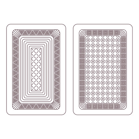 playing card: Ornament for playing cards  Two variants on a white background  Illustration