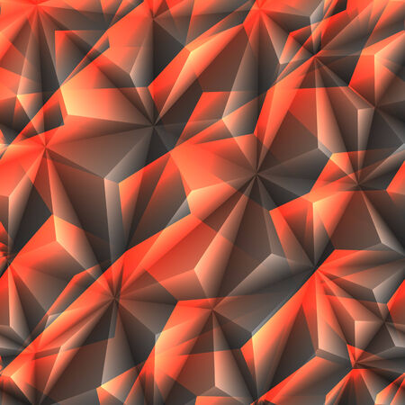 ledge: Abstract texture of crystals black and orange colors  Illustration