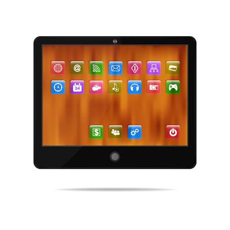 computador tablet: Tablet computador no fundo branco